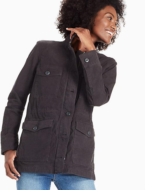 UTILITY JACKET, WASHED BLACK