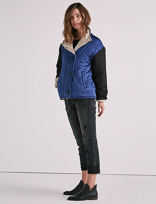 COLORBLOCK QUILTED JACKET,