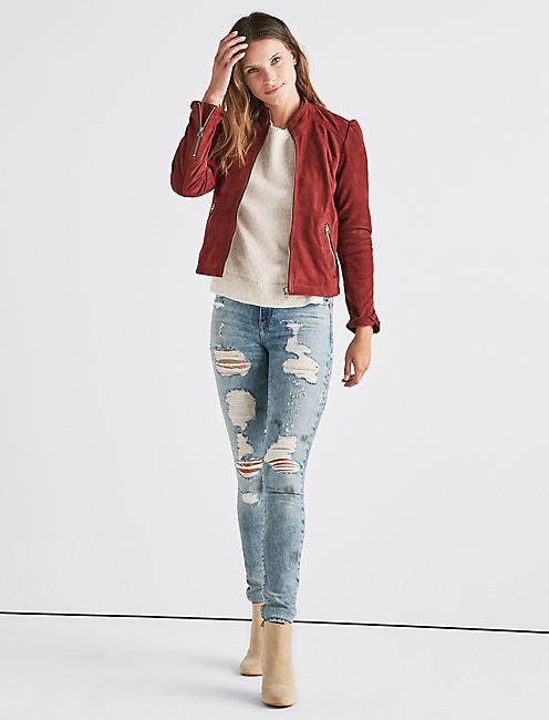 Lucky Suede Puff Sleeve Jacket