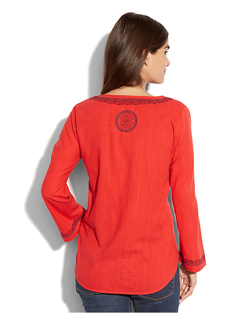 POINSETTIA TUNIC, RED MULTI