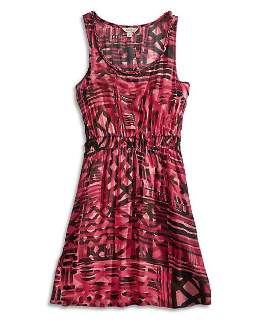 AMANI GEORGETTE DRESS, PINK MULTI