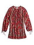 FLORAL PAISLEY TOP, RED MULTI