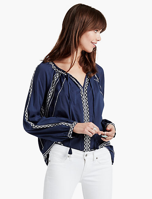 EMBROIDERED PEASANT, AMERICAN NAVY