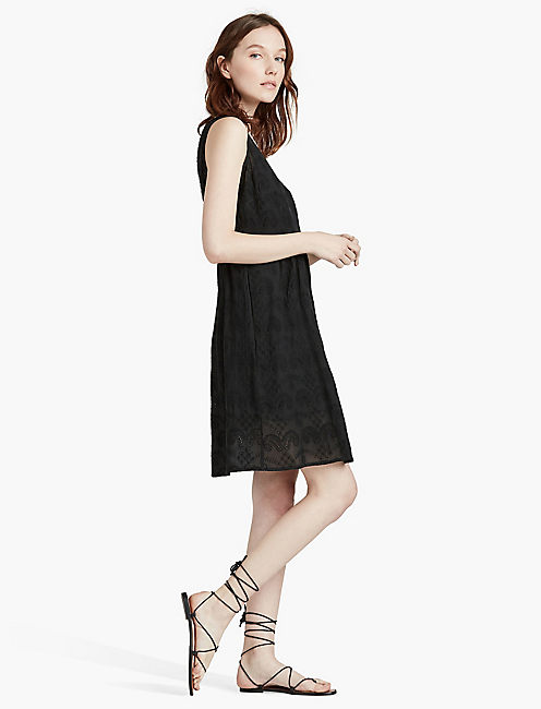 BLACK EYELET DRESS,