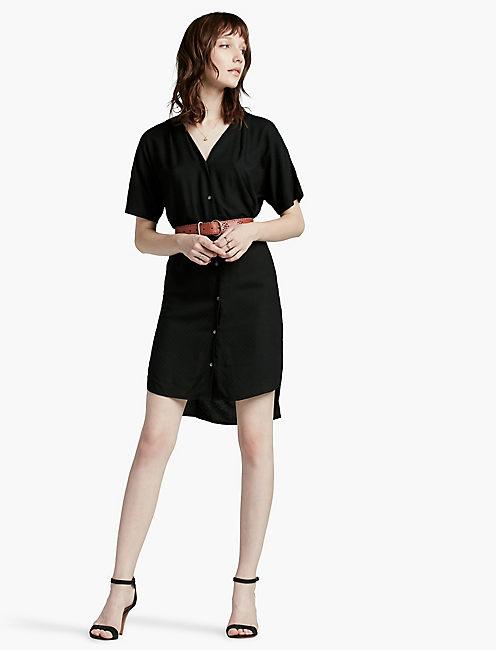 DOLMAN SHIRT DRESS,