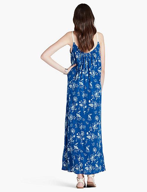 VIBRANT BLUE MAXI DRESS,