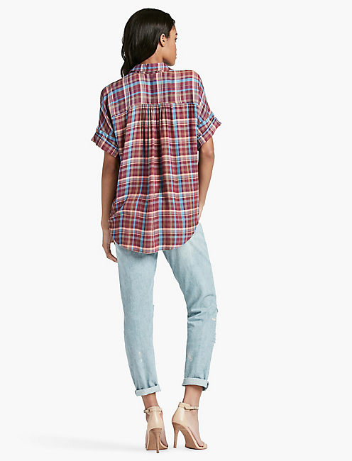 SHORT SLEEVE PLAID,