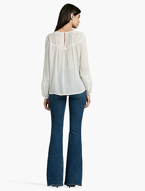EMBROIDERED TOP, NATURAL