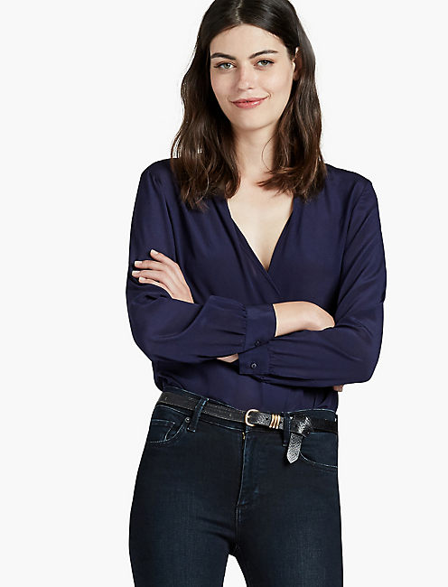 SILK BUTTON BACK TOP, ECLIPSE