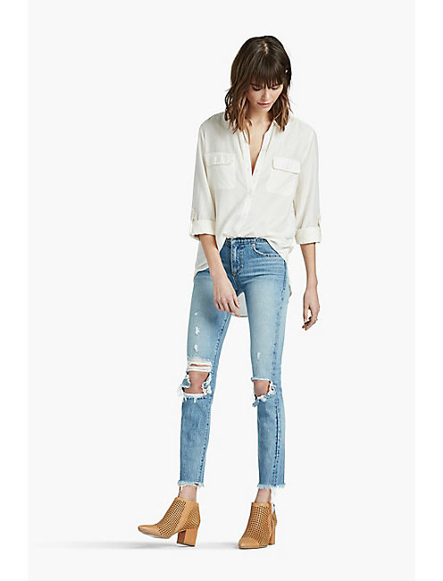 Lucky Washed Silk Button Down Shirt