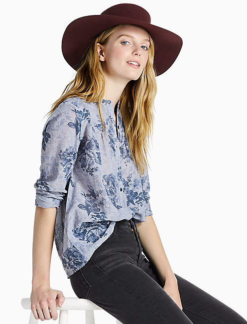 FLORAL CHAMBRAY,