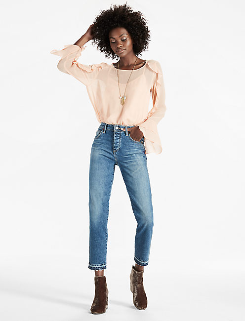 Lucky Scoop Back Ruffle Top