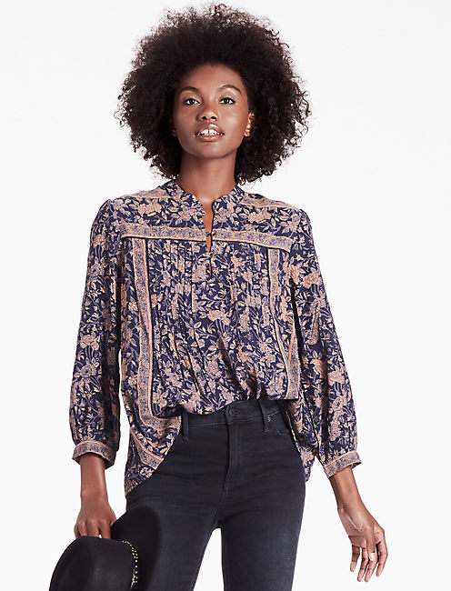 MICHELLE TOP, BLUE MULTI