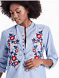 POPLIN EMBROIDERED SHIRT,