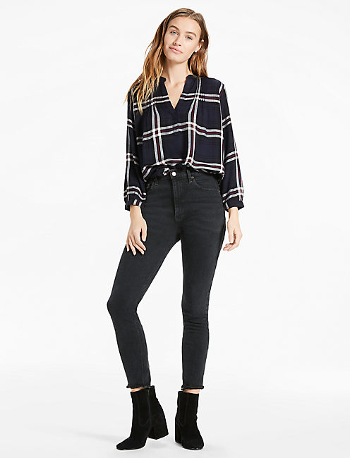 POPOVER PLAID PEASANT,