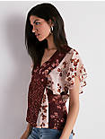 MIXED PRINT FLORAL TOP,