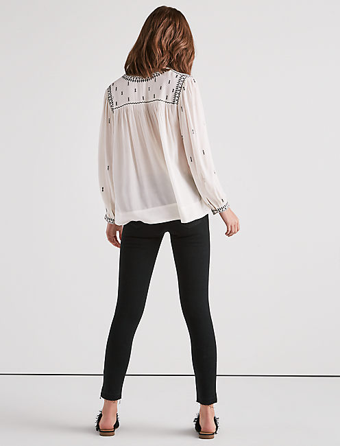 WHITE EMBROIDERED TOP,
