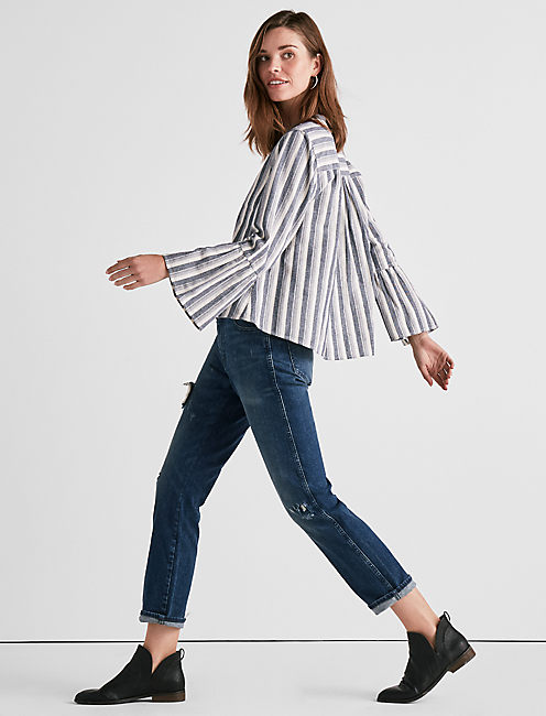 STRIPE HAZELL TOP,