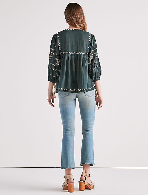 SOFT FOLK PEASANT TOP,