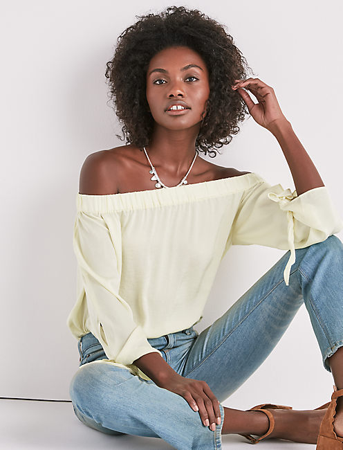 PARACHUTE OFF SHOULDER TOP,
