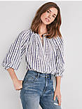 STRIPE POET BLOUSE,