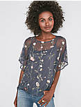 FLORAL EMBROIDERED TEE,
