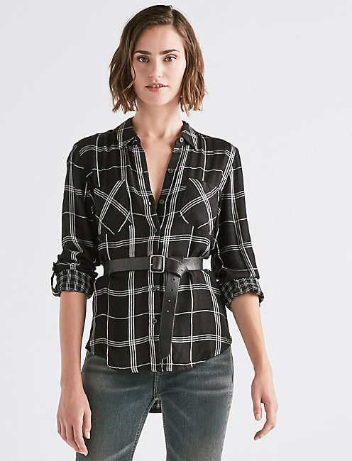 BOYFRIEND PLAID DUOFOLD,