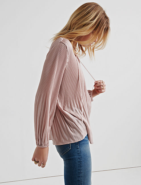 Lucky Pleated Peasant Top