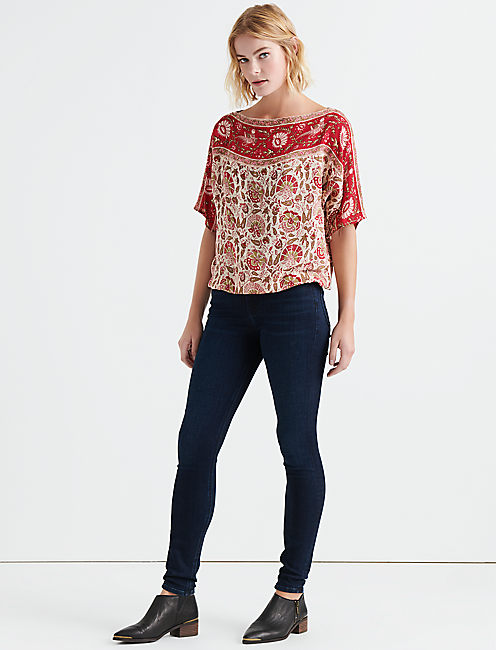 Lucky Border Boat Neck Top