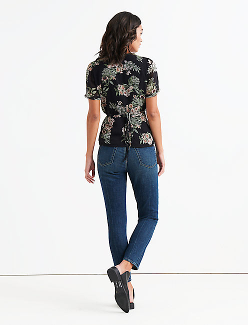 FLORAL PRINTED WRAP TOP,