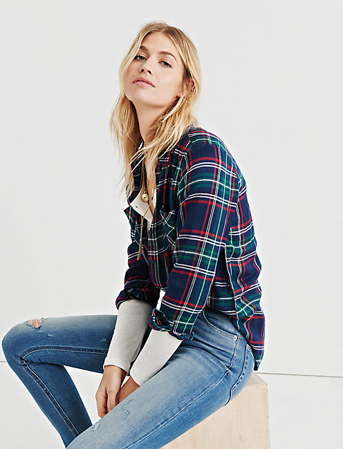 LUCKY CLASSIC PLAID, NAVY MULTI