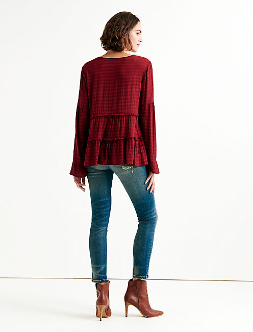 SOLID PEASANT TOP,