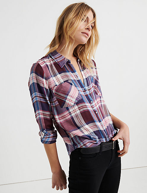 Lucky Classic Pleat Back Plaid