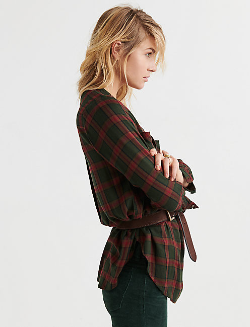 Lucky Popover Tunic Plaid