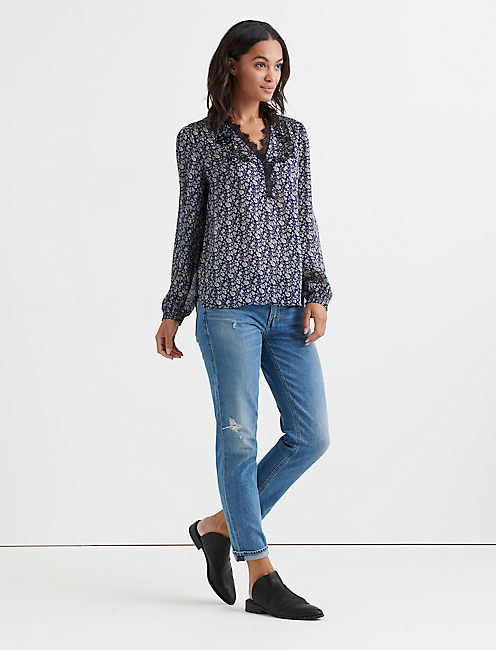 Lucky Printed Embroidered Popover