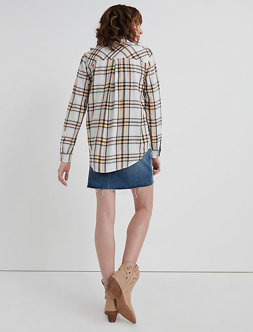 PLAID BOYFRIEND SHIRT, MULTI