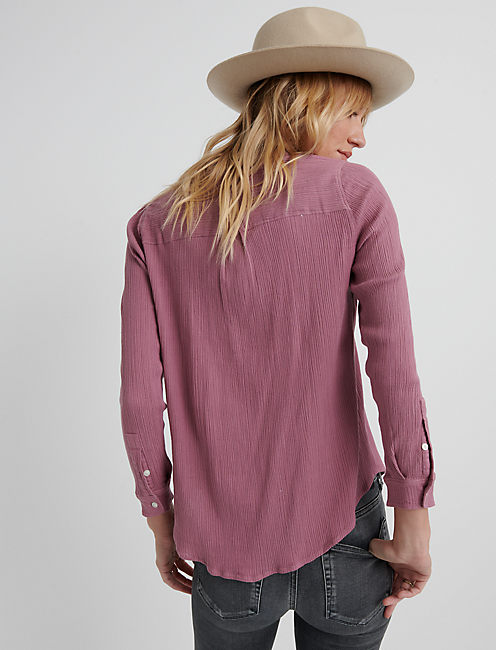 KEY ITEM COLLARED SHIRTING, DUSKY ORCHID