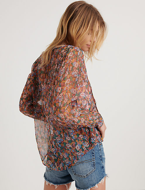 Ditsy Floral Popover Peasant