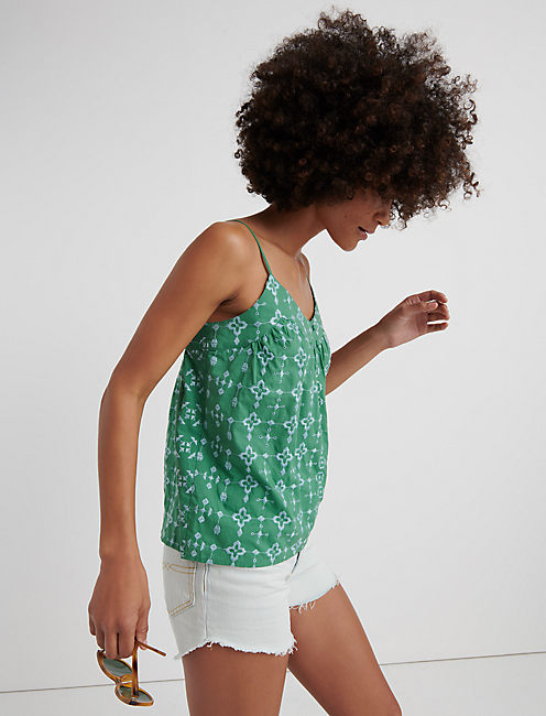 Geo Embroidered Tank