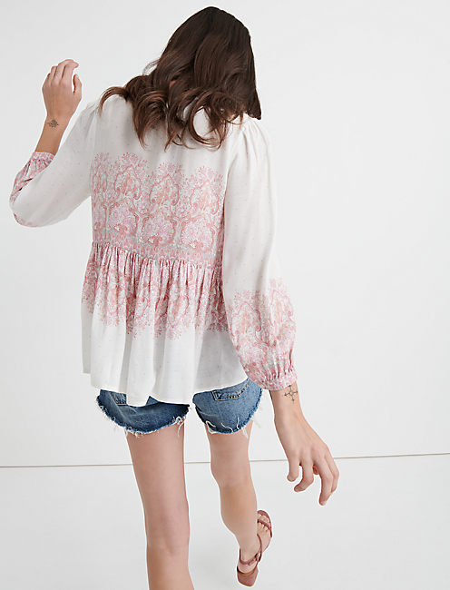 MIXED PAISLEY PRINT TOP, MULTI