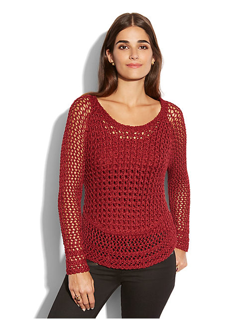 MARISSA METALLIC SWEATER, #6703 BIKING RED