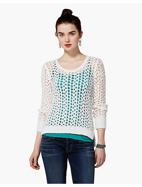 SUMMER MACEY PULLOVER, LUCKY WHITE