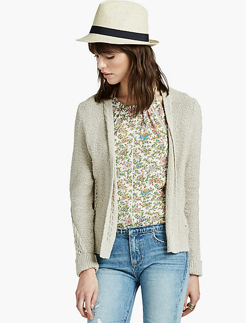 AFTERNOON CARDIGAN, PUTTY