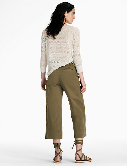 LILY LACE UP PULLOVER, #130 NATURAL