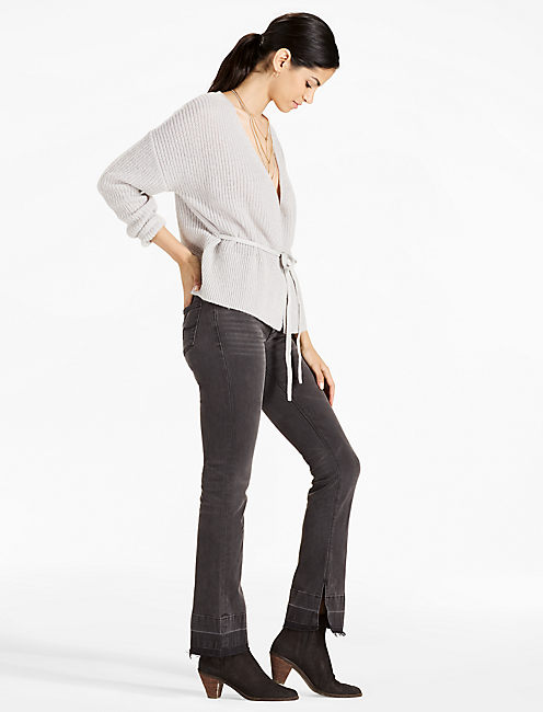 PRIMA CARDIGAN, HEATHER GREY