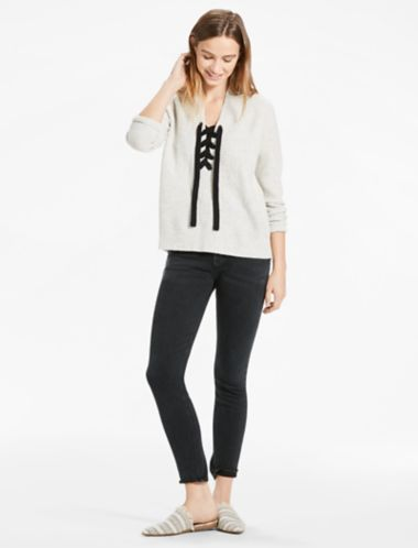 Lucky Lace Up Sweater
