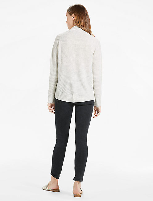 LACE UP SWEATER, MERCURY