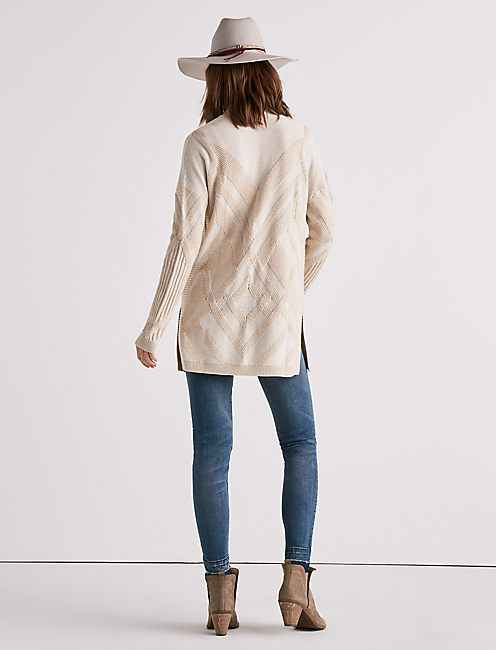 LIGHTWEIGHT DRAPED CARDIGAN SWEATER,