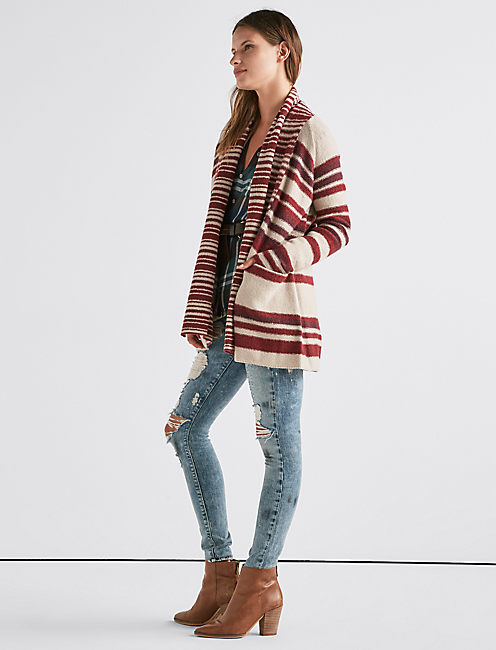 Lucky Multi Stripe Cardigan