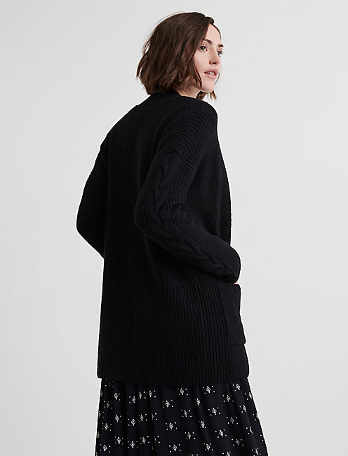 VENICE CARDIGAN, 001 LUCKY BLACK